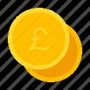coin, money, pounds icon