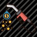 cash, energy, flow, flow of money, power icon