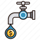 flow, flow of money, money, water icon