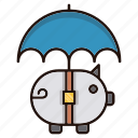 fly, money, protection, umbrella icon