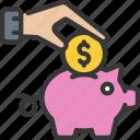 savings, piggy, bank, save