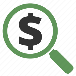 audit, budget, cash, currency, dollar, ecommerce, explore, explorer, finance, financial, find, invetigation, locate, magnifying glass, money, price, research, search, zoom icon
