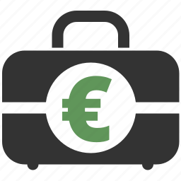 bag, briefcase, business, buy, case, cash, currency, ecommerce, euro, finance, financial, money, payment, price, suitcase icon