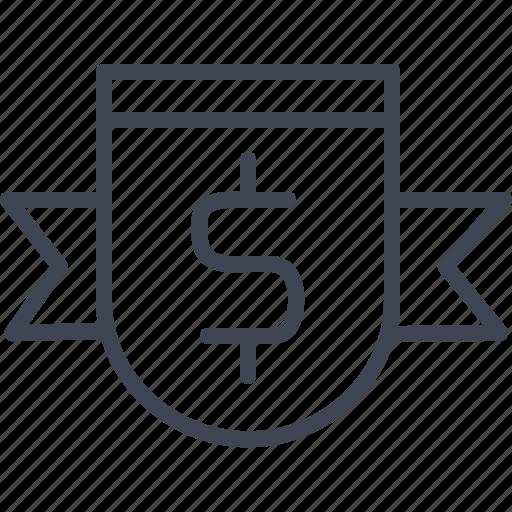 badges, dollar, finance, financial, money icon
