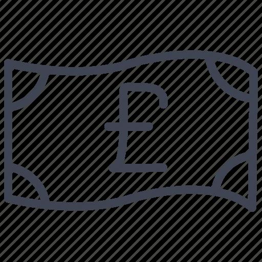 bill, british, cash, currency, finance, money, pound icon