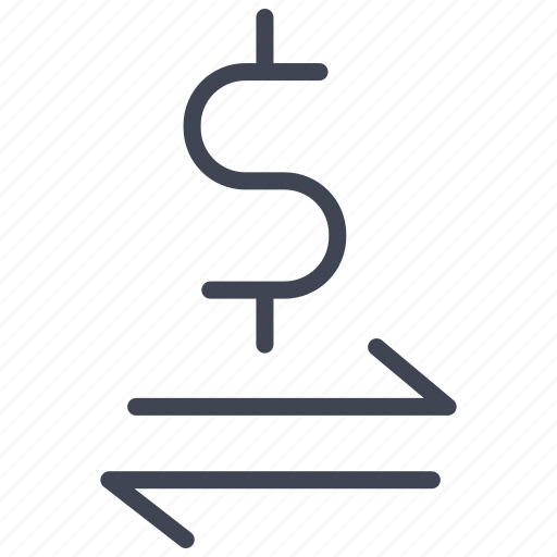 currency, dollar, exchange, finance, money, sign icon