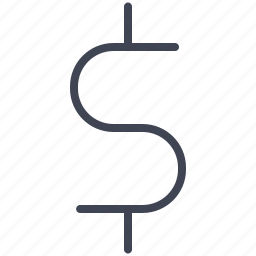 cash, currency, dollar, finance, money, sign icon