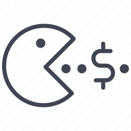 cash, currency, dollar, eating, finance, money icon