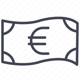 bill, cash, currency, euro, finance, money icon