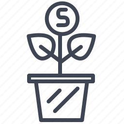 cash, currency, finance, grow, money, payment icon