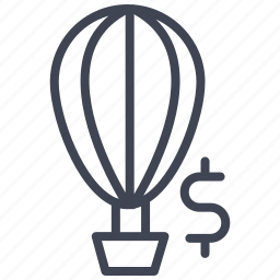 airballoon, currency, dollar, finance, hot, money, sign icon