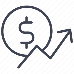 business, dollar, finance, increase, money, payment, sign icon