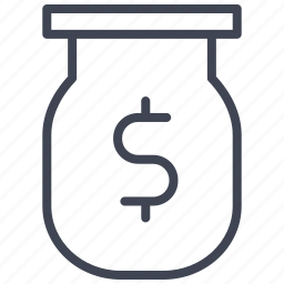 currency, dollar, finance, jar, money, payment, sign icon