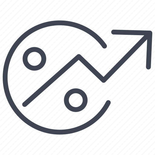 arrow, discount, finance, percent, percentage icon