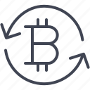 arrow, bitcoin, finance, money, refresh, reload icon