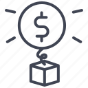 cash, currency, dollar, finance, money, sign, surprise icon