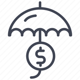 dollar, finance, money, sign, umbrella icon