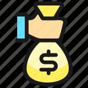 bag, cash, payment