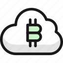 crypto, currency, bitcoin, cloud