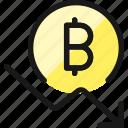 crypto, currency, bitcoin, decrease