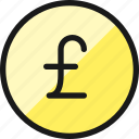 currency, pound, circle