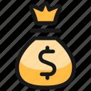 money, bag, dollar