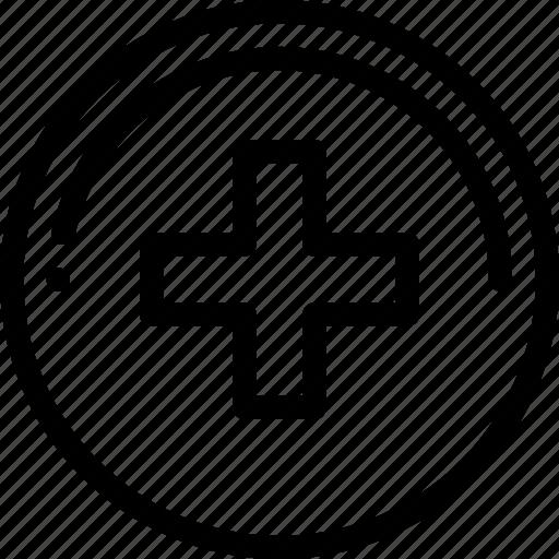increase, plus, sign icon