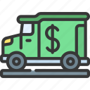 cash, truck, logistics, delivery, transport, lorry