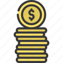 coin, stack, coins, cash, currency