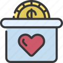 donate, cash, donation, charity