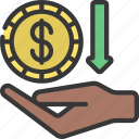 receive, payment, received, coin, income