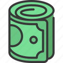 roll, of, cash, finances, currency, notes