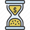 sand, timer, time, is, cash, hourglass