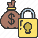 secure, locked, finances, debt