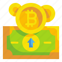 bitcoin, business, coin, cryptocurrency, finance, money, transfer icon