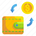 business, coin, exchange, finance, money, transfer, wallet icon