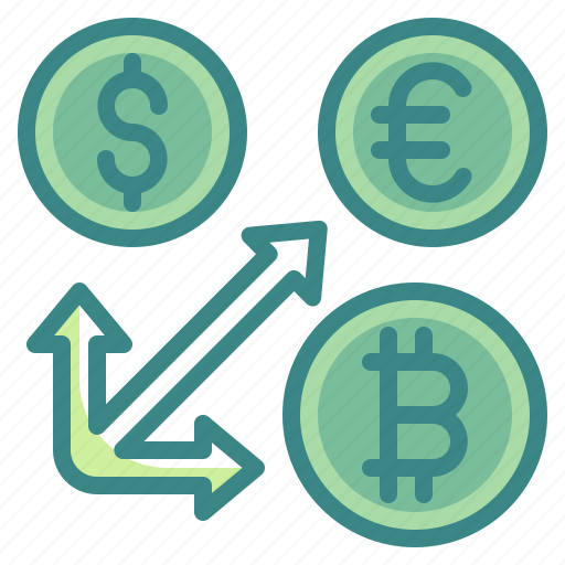 Arrow, business, coin, exchange, finance, money, transfer icon - Download on Iconfinder