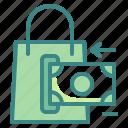 bag, business, finance, money, sale, shopping, transfer icon