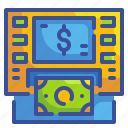 atm, business, cash, finance, machine, money, transfer icon