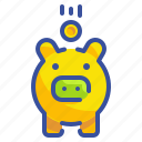 business, coin, finance, money, pig, piggy, saving icon