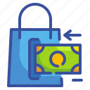 bag, business, finance, money, sale, shopping, transfer icon