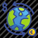 business, exchange, finance, money, transfer, world, worldwide icon