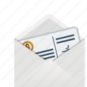 cheque, dollar, envelope, euro, finance, gift, money, papers, pound, stack, stacked icon