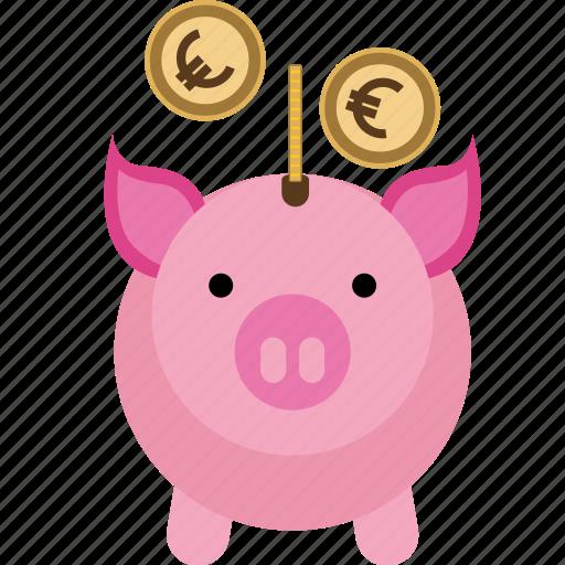 bank, box, coin, money, pig, piggy, safe, saving, savings icon