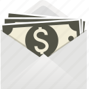 dollar, envelope, euro, finance, gift, money, papers, pound, stack, stacked icon