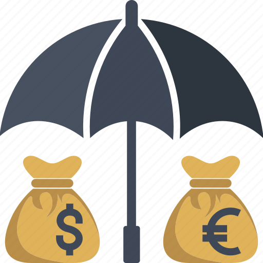 bag, business, cash, coin, currency, dollar, euro, finance, insurance, money, moneybag, protect, transaction, yen icon
