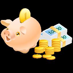 cash, coins, money, pig, piggy bank, safe icon