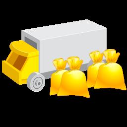 money, transportation icon
