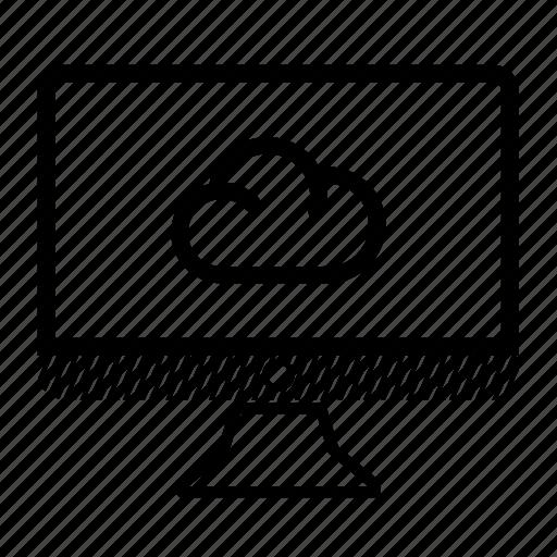 cloud, computer, desktop, eddy, monitor icon