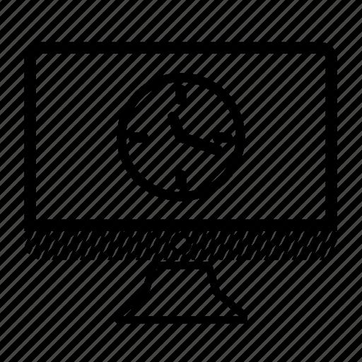 clock, computer, desktop, monitor, time icon